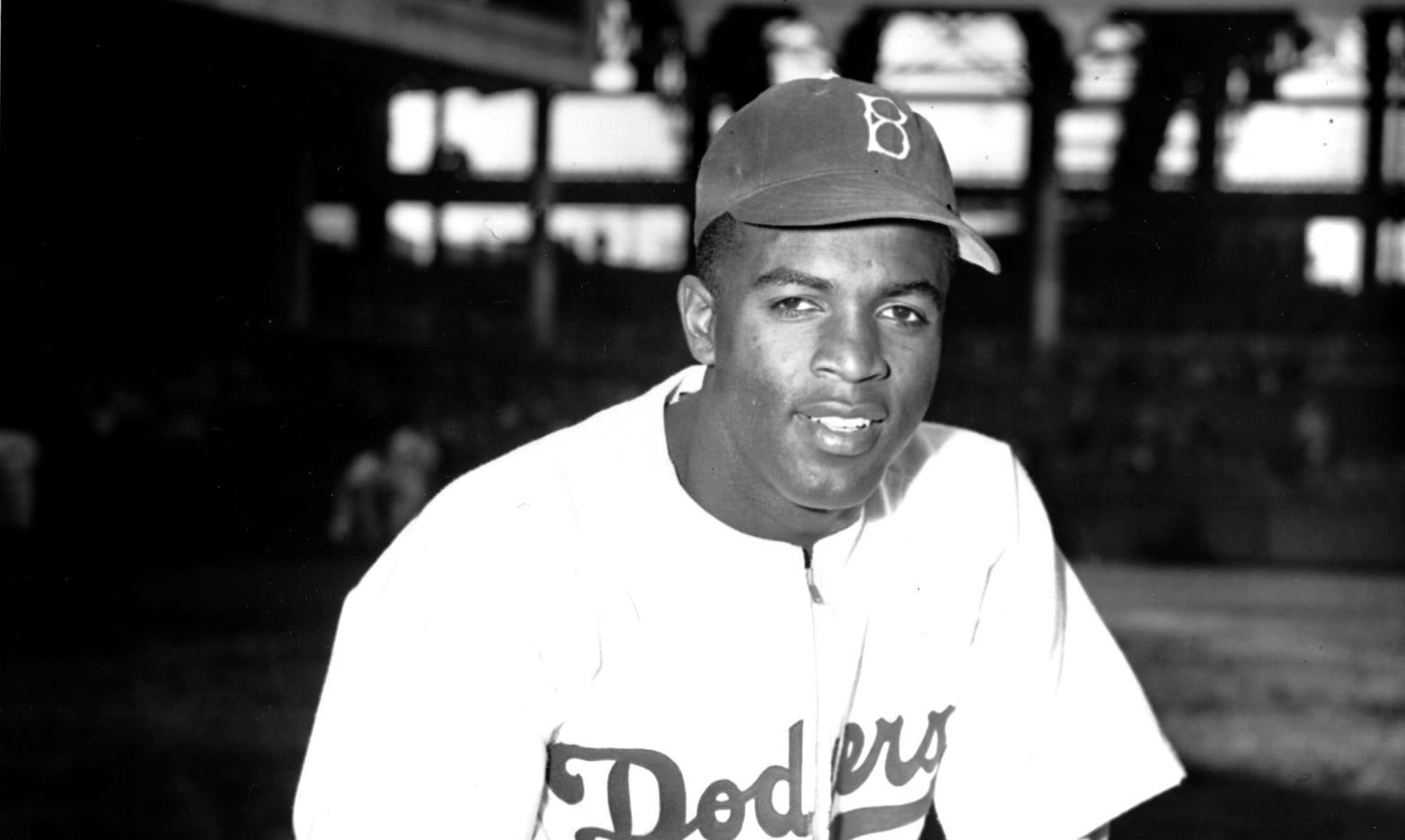 Jackie Robinson Brooklyn Dodgers New Arrival Baseball Player Black Golden Jersey