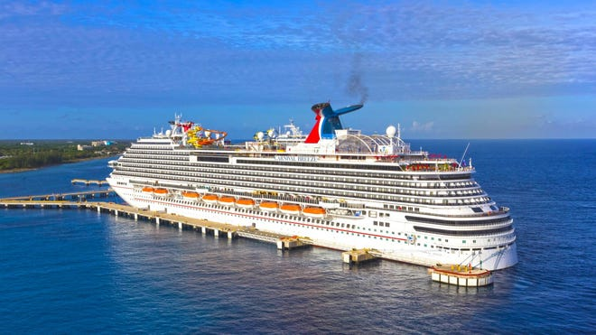 Carnival's Diamond Princess ship, which became one of the first large COVID-19 clusters outside China in February 2020.