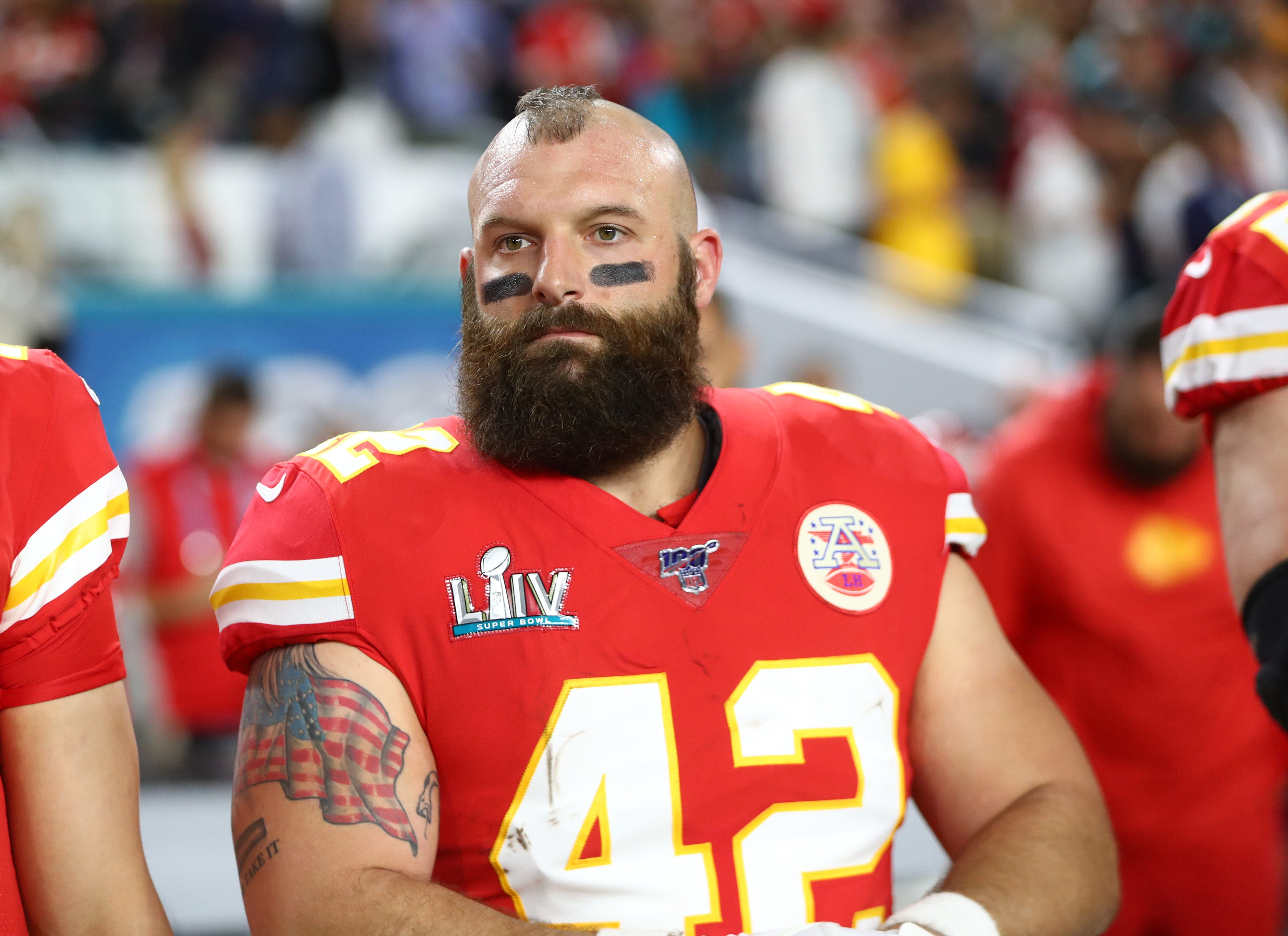 Retired NFL fullback Anthony Sherman compares COVID-19 vaccination wristbands to racial segregation