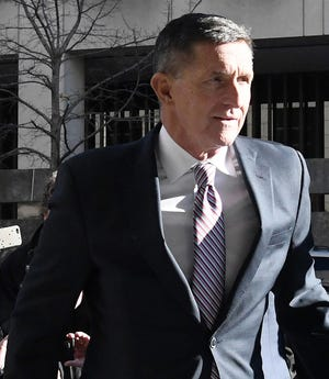 Former national security advisor Michael Flynn arrives at U.S. District Court in Washington, D.C., for his sentencing hearing on December 18, 2018. (Olivier Douliery/Abaca Press/TNS)