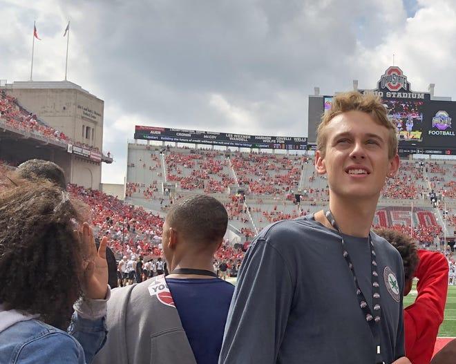 Bowen Hardman attended Ohio State's home football game against Cincinnati on Sept. 7.