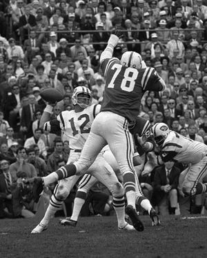 The Jets took quarterback Joe Namath (12) with the No. 1 overall pick in the AFL draft in 1965. He won the team's only Super Bowl.