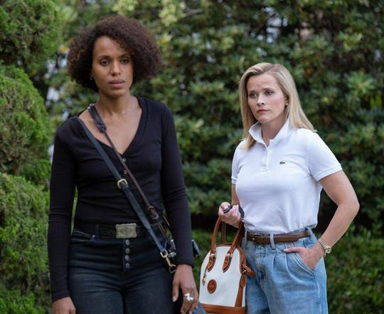 """Kerry Washington, left, was nominated for Hulu's """"Little Fires Everywhere,"""" but co-star Reese Witherspoon was shut out."""