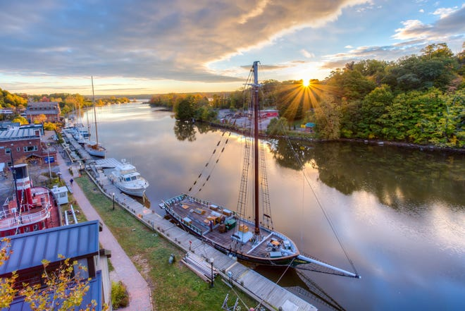 The Clearwater on the Rondout at Sunrise. The Great Hudson River Revival - one of America's longest-running environmental festivals - is going virtual this year.