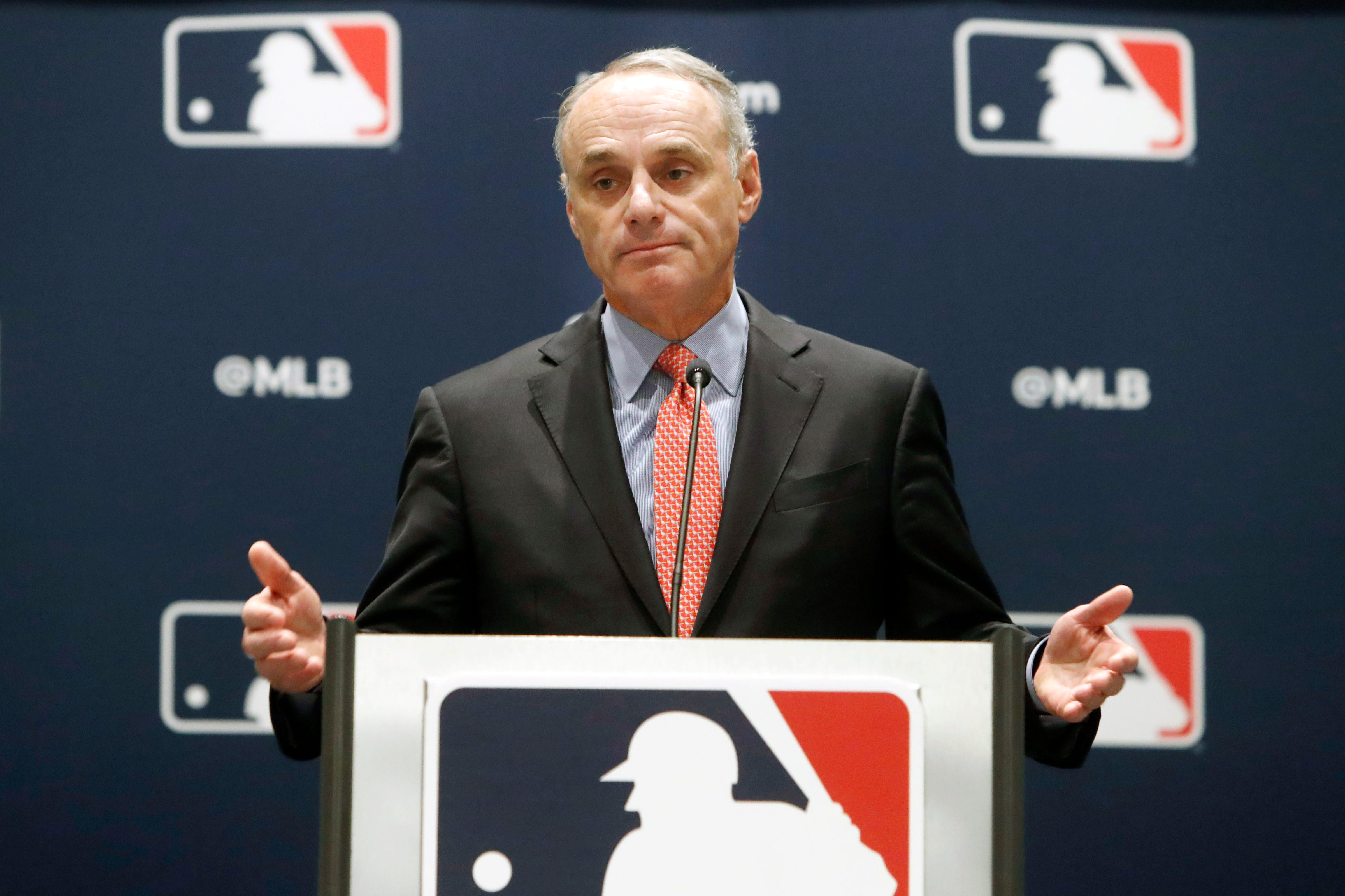 Commissioner Rob Manfred says there will be fans in postseason