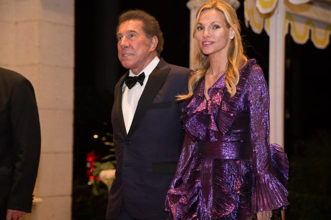 Steve and Andrea Hissom Wynn arrive at a New Year's Eve party in December 2017 at Mar-a-Lago. A company linked to Steve Wynn just paid a recorded $24 million for a lakefront estate on the North End, the billionaire's third Palm Beach real estate investment since the end of December, courthouse records show.