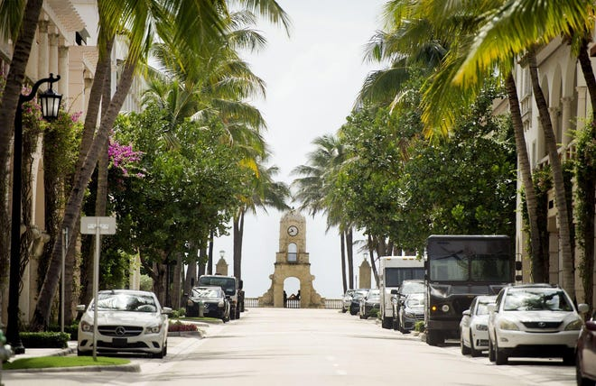 Businesses along Worth Avenue in Palm Beach reopened on Monday. The Avenue was closed to all pedestrian and vehicular traffic from noon Friday through Sunday because of town concerns about possible demonstrations protesting the death of George Floyd.