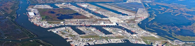 Port Fourchon, at the southern tip of Lafourche Parish, is a service hub for most of the Gulf of Mexico oilfield.