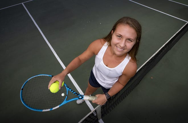 McKeel's Neleah Neiberline is one of four county finalists at No. 1 singles who advanced to the finals at their respective district tournament.