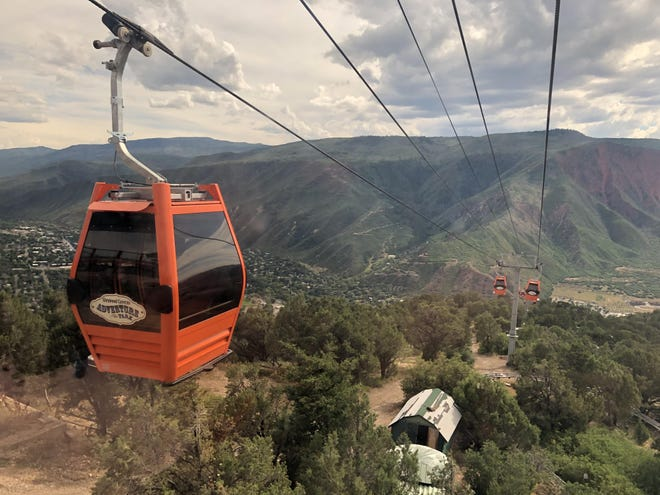 The Glenwood Gondola transports visitors to the Glenwood Cavers Adventure Park. A group of Puebloans hopes American Rescue Plan stimulus funds can be used to build a similar ride over the Historic Arkansas Riverwalk of Pueblo.