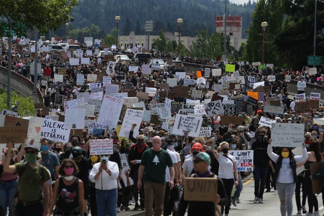 Thousands march in Black Lives Matter protest in Eugene on Sunday. [Chris Pietsch/The Register-Guard] - registerguard.com