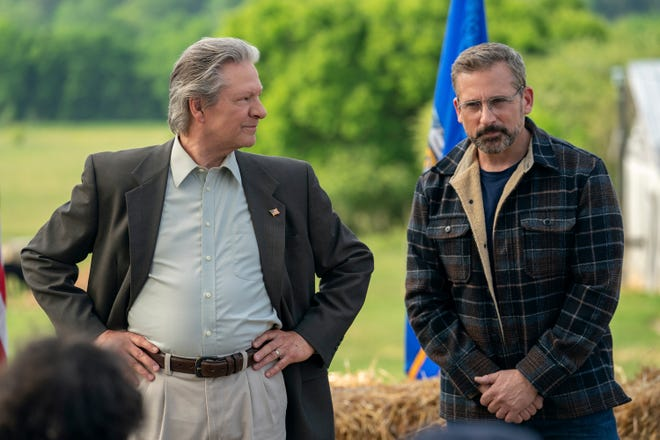 """Chris Cooper, left, and Steve Carell appear in a scene from """"Irresistible."""""""