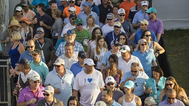 Gallery during last Saturday's third round of the Honda Classic at PGA National in Palm Beach Gardens.