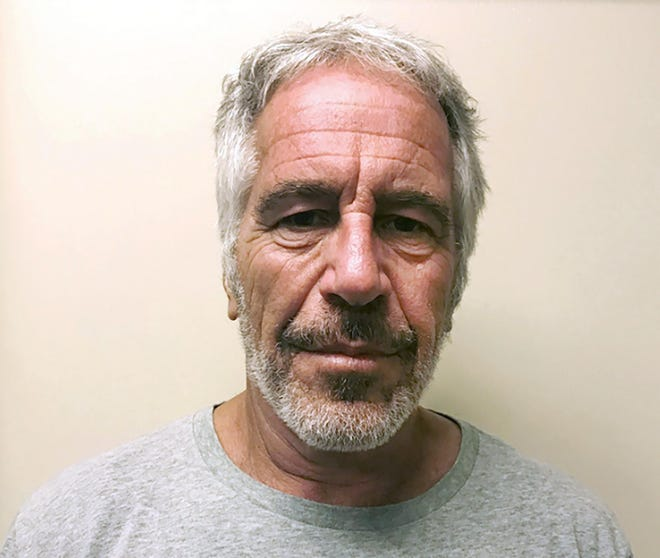 FILE - This March 28, 2017, file photo, provided by the New York State Sex Offender Registry, shows Jeffrey Epstein. The warden in charge when Jeffrey Epstein ended his life in his jail cell is being moved to a leadership position at another federal correctional facility, putting him back in the field with inmates despite an ongoing investigation into the financier's death, two people familiar with the matter told The Associated Press.