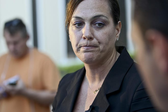 Delray Beach Police Lt. Nicole Guerriero, seen here in 2012 as her department's public information officer, went to a detective in her own department, who was also her friend, to press stalking charges against her ex-wife, Bethany Federenchik Guerriero. She said she was considered a victim, not a police officer, in the case.