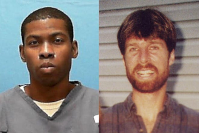 Nathaniel Brazill, left, now in state custody near Tallahassee, fatally shot Barry Grunow, a teacher at Lake Worth Middle School, on Friday, May 26, 2000. Brazill was 13 at the time.