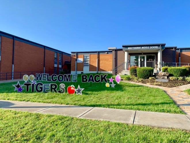 Whitthorne Middle School welcomes students back for the start of the school year in August 2020.