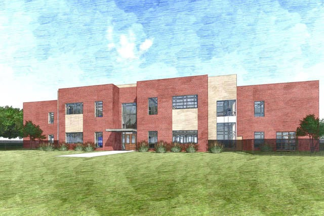 An artist rendering of the new McDowell Elementary School in Columbia.