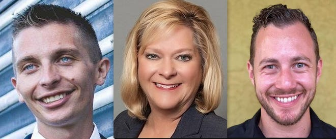 Three candidates for Palm Coast City Council Seat 3 are, left to right, Nicholas Klufas, Cornelia Manfre and Zack Shapiro.