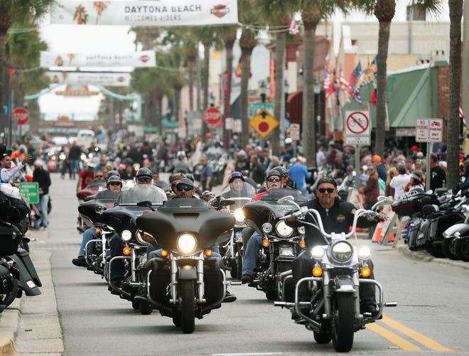 Main Street during Bike Week 2020, just as the coronavirus pandemic was hitting Florida.