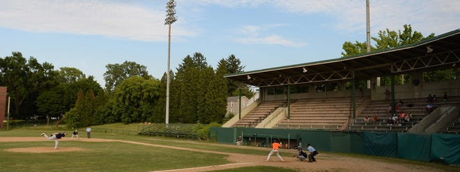 Rambler 9 plays TESCO on July 21, 2020 in a Glenwood League game at Ainsworth Field in Erie.