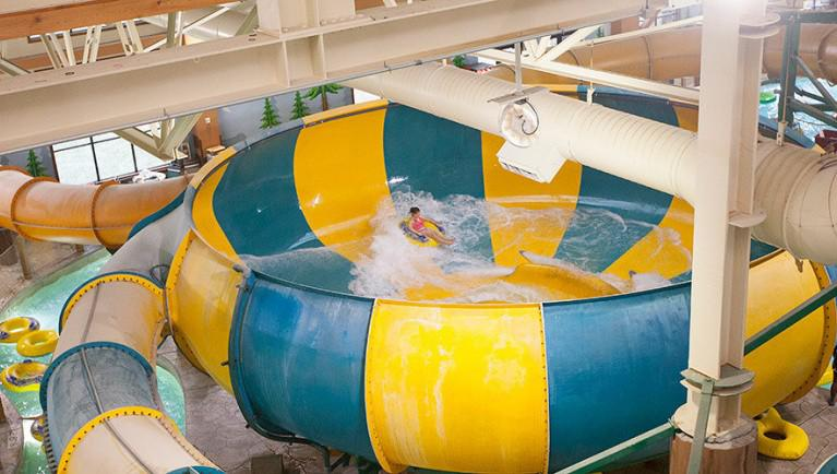The Coyote Canyon is a popular waters slide at the Great Wolf Lodge in Scotrun.