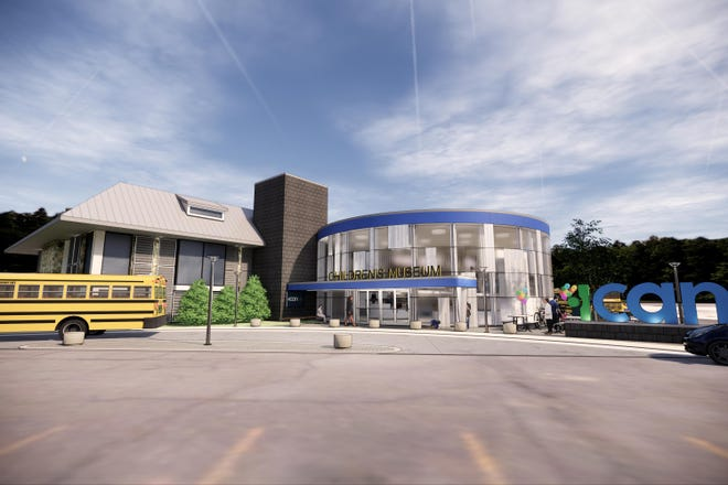 Rendering of the planned Family Resource Center, which includes a 21st-century version of Utica's fabled Children's Museum.