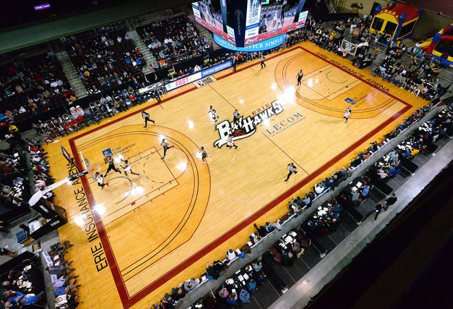 The Windy City Bulls visit the Erie BayHawks in 2019 at Erie Insurance Arena in Erie. The NBA G League announced that the remainder of the 2019-20 season, which was suspended March 12, has been canceled.