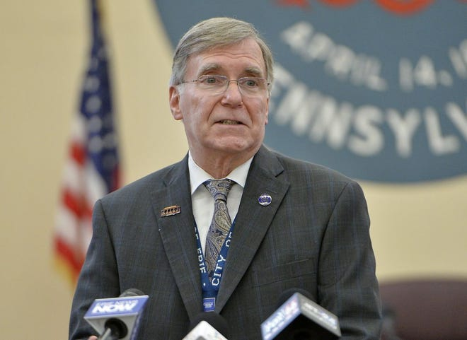 Erie Mayor Joe Schember is shown in this March file photo. Erie City Council will begin its scrutiny of Schember's 2021 city budget proposal next week.