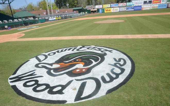 Grainger Stadium, home of the Down East Wood Ducks, has been the site of many different levels of baseball over the last year.