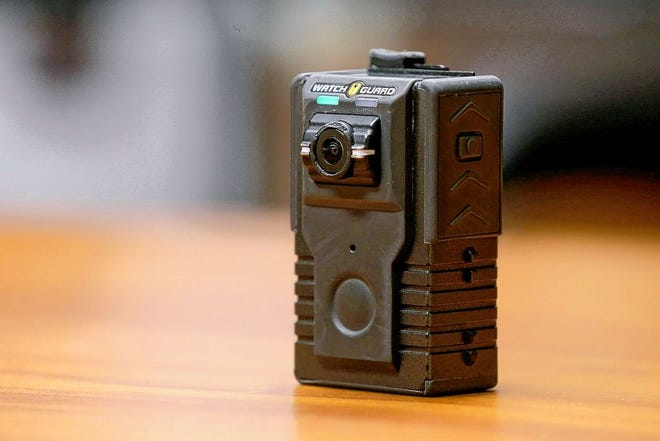 This is one of the button-activated WatchGuard body cameras that all Whitehall Division of Police officers in uniform or on patrol have worn since July 2018. Worthington City Council is considering body-worn cameras for local officers, but chose July 20 to table discussion pending more information, dialogue and community input.