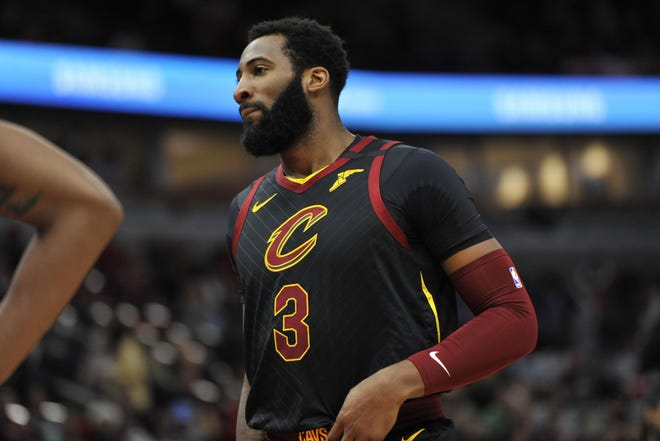 Other Cavaliers players continue to support center Andre Drummond, above, as he sits out while the team tries to trade him. [Associated Press]