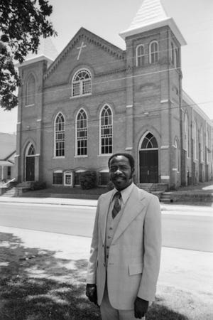 Evans Metropolitan AME Zion Church, pictured in July of 1979. The historic African-American church, which dates back to 1893, is among the numerous historical sites in Fayetteville.