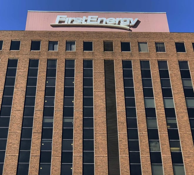 FirstEnergy Corp. at Cascade Plaza in downtown Akron.