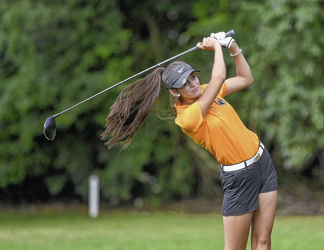 Hayley Dye, a junior who was the OCC-Cardinal Player of the Year and earned medalist honors in a Division I sectional last season, returns to lead the Delaware Hayes girls golf team.