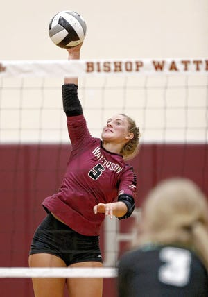Senior Sydney Taylor, an Ohio State recruit, is among the top returnees for the Watterson girls volleyball team and fourth-year coach Stephanie Grieshop.
