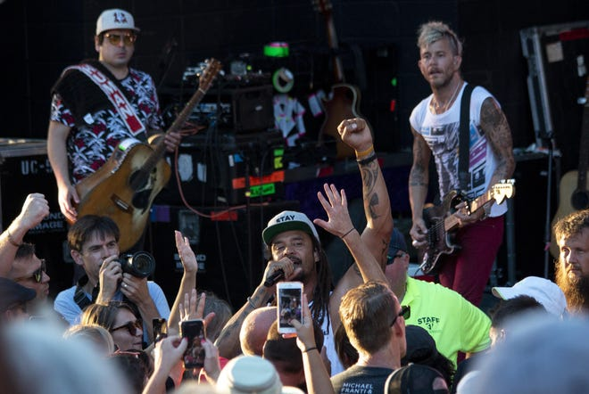 Michael Franti & Spearhead , seen here at Greenfield Lake Amphitheater in 2019, play the N.C. Azalea Festival Aug. 19.