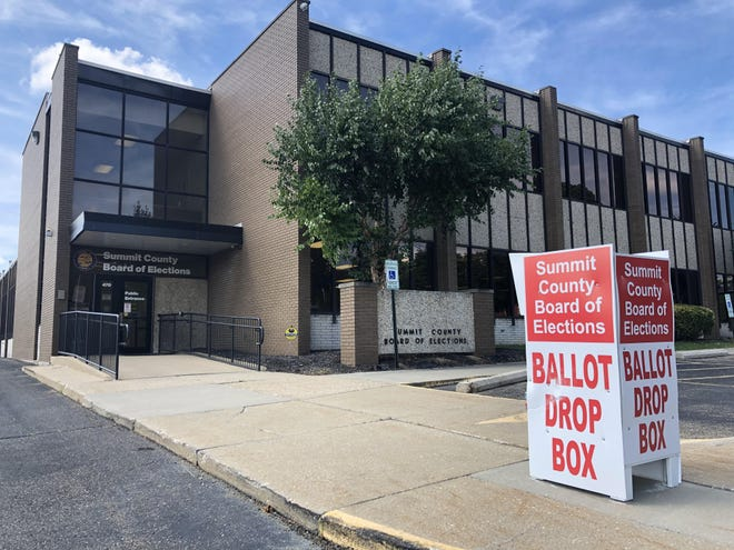 The Summit County Board of Elections  has a secure drop box located outside of its facility for voters to turn in their absentee ballots.