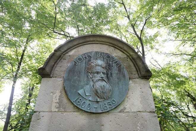 The Summit County Historical Society will lead a hike at the John Brown Memorial on Akron Zoo property.