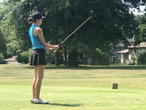 Tolton's Audrey Rischer looks on while competing in a tournament last year.
