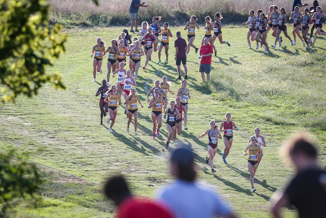 Missouri cross-country runners compete last season during the home Gans Creek Classic.