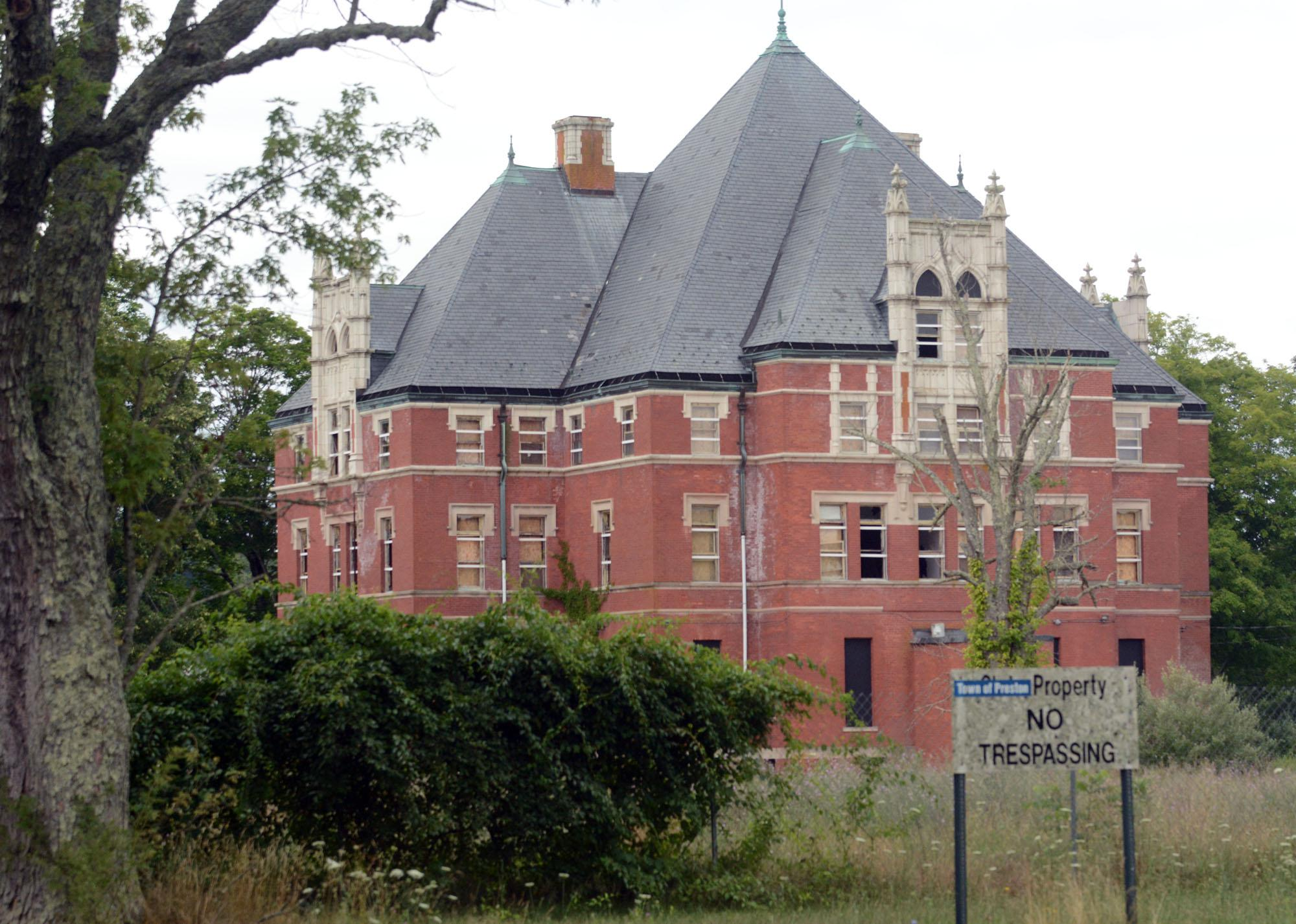File photo of the defunct Norwich State Hospital's Administration Building.