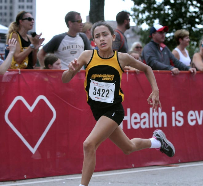 Sophia Gorriaran showed off her talent as a sixth grader at the CVS Downtown 5K youth race. Three years later, she's one of the state's top track athletes and Thursday, was named the 2020 Gatorade Girls Track and Field Athlete of the Year.