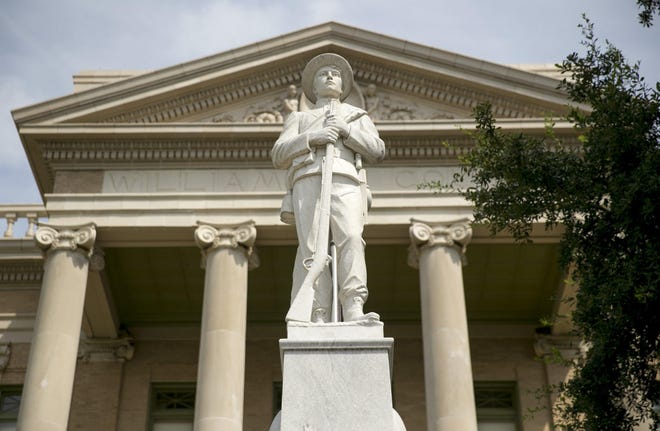 Williamson County commissioners have approved forming a committee to study whether the Confederate statue at the courthouse should be moved.