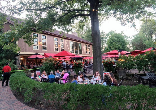 The Piazza at Gervasi Vineyard is a lively dining scene.