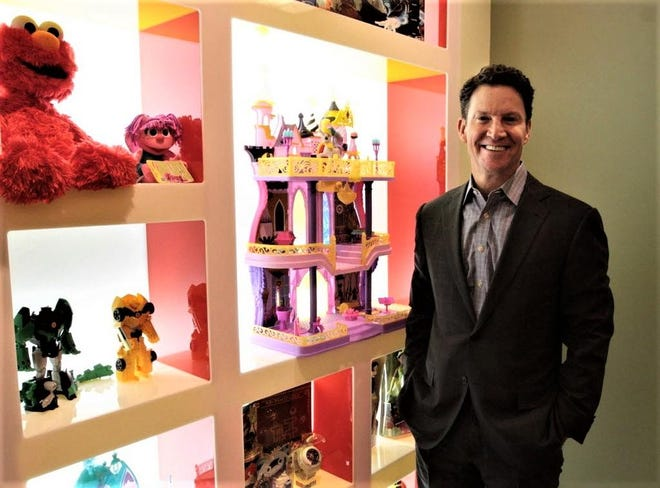 Hasbro chief executive Brian Goldner, seen in a 2020 photo after the company announced he was being treated for cancer, has died, the company announced Tuesday, two days after it announced he was taking an immediate leave of absence.