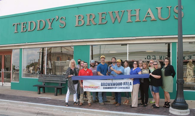 Teddy's Brewhaus is pictured earlier during a Brownwood Area Chamber of Commerce ribbon cutting.