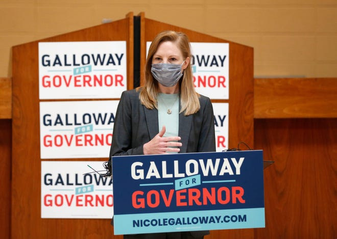 Nicole Galloway, Democratic candidate for governor, made a campaign stop Friday in Springfield at the Teamsters hall.