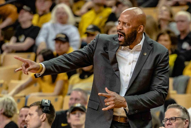 Missouri head men's basketball coach Cuonzo Martin directs the flow of play during a game last season at Mizzou Arena.
