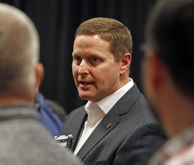 Texas Tech athletics director Kirby Hocutt is one of four members of a Big 12 subcommittee charged with guiding the conference's expansion efforts. Big 12 presidents will meet early Friday, and Hocutt said a Tech contingent also will meet again later Friday with Texas Gov. Greg Abbott.